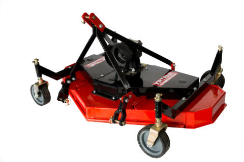 top of finishing mower for compact tractor