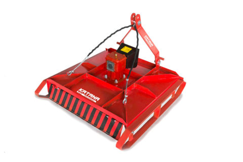 Topper mower for compact tractor