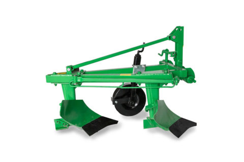 Double furrow plough for compact tractor