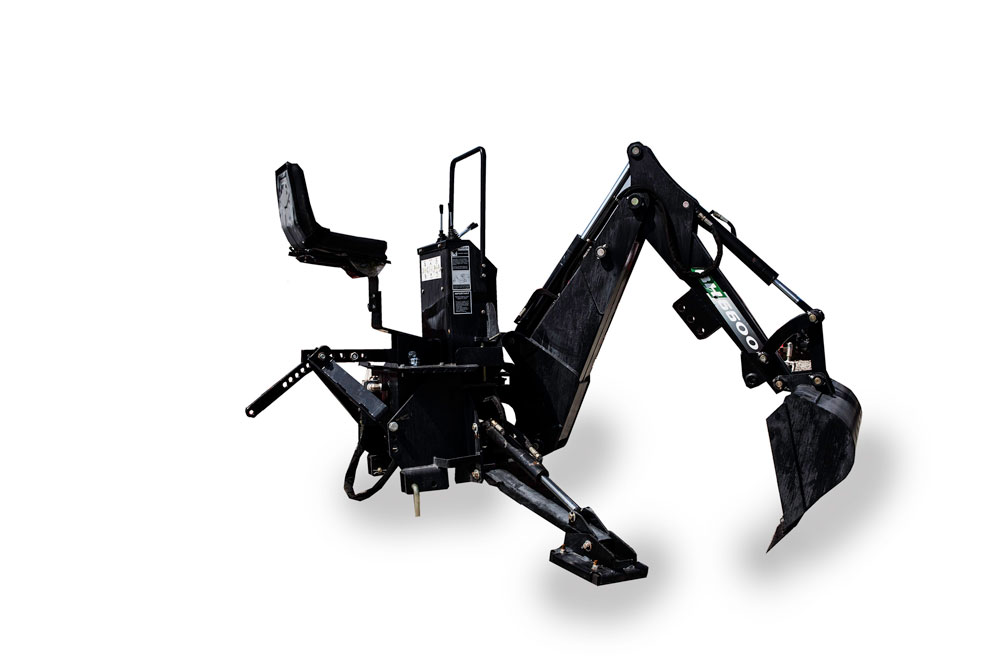 Mini backhoe attachment for compact tractor