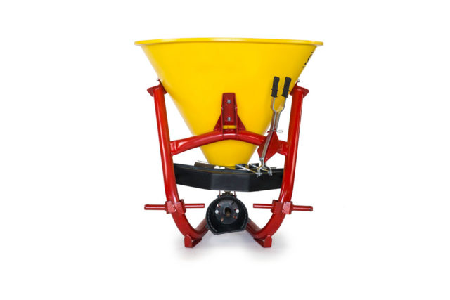 Sand and salt spreader for compact tractor
