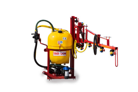 Mounted sprayer for compact tractor
