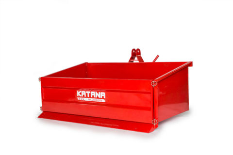 Tipping transport box for compact tractor