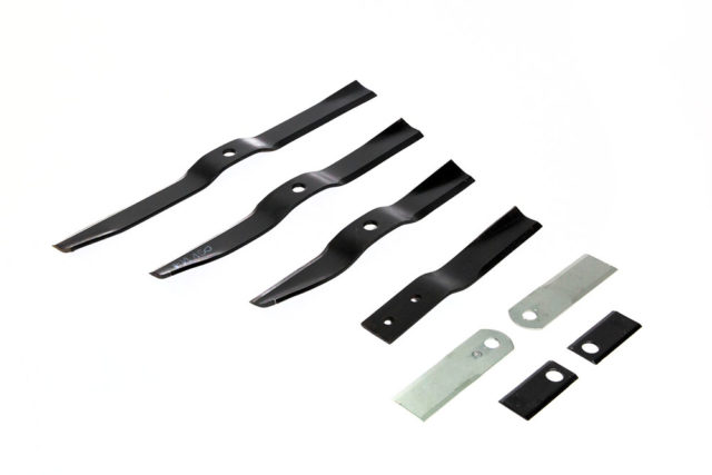 Blades for finishing, topper and drum mowers