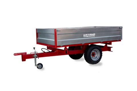 Large 3 sides tipping trailer