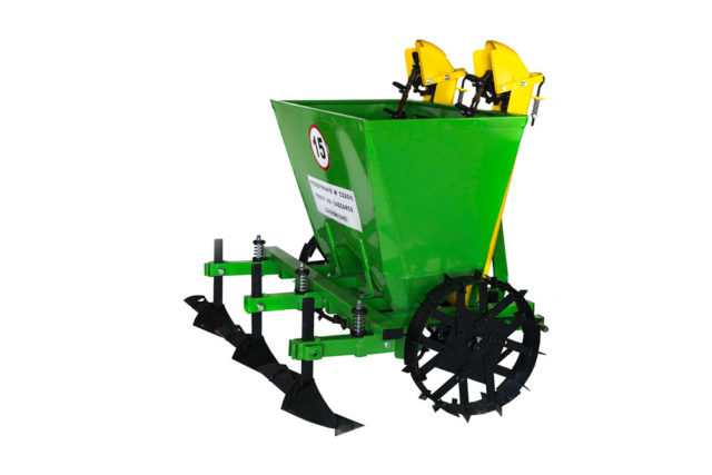 Double row potato planter