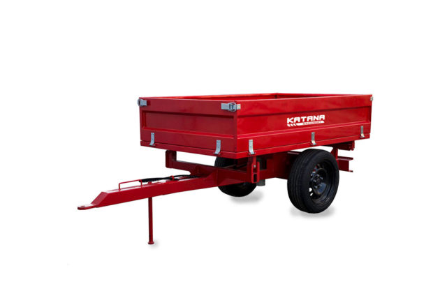 Tipping trailer for tractor